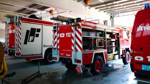 Wagens van Feuerwehr Frutigen