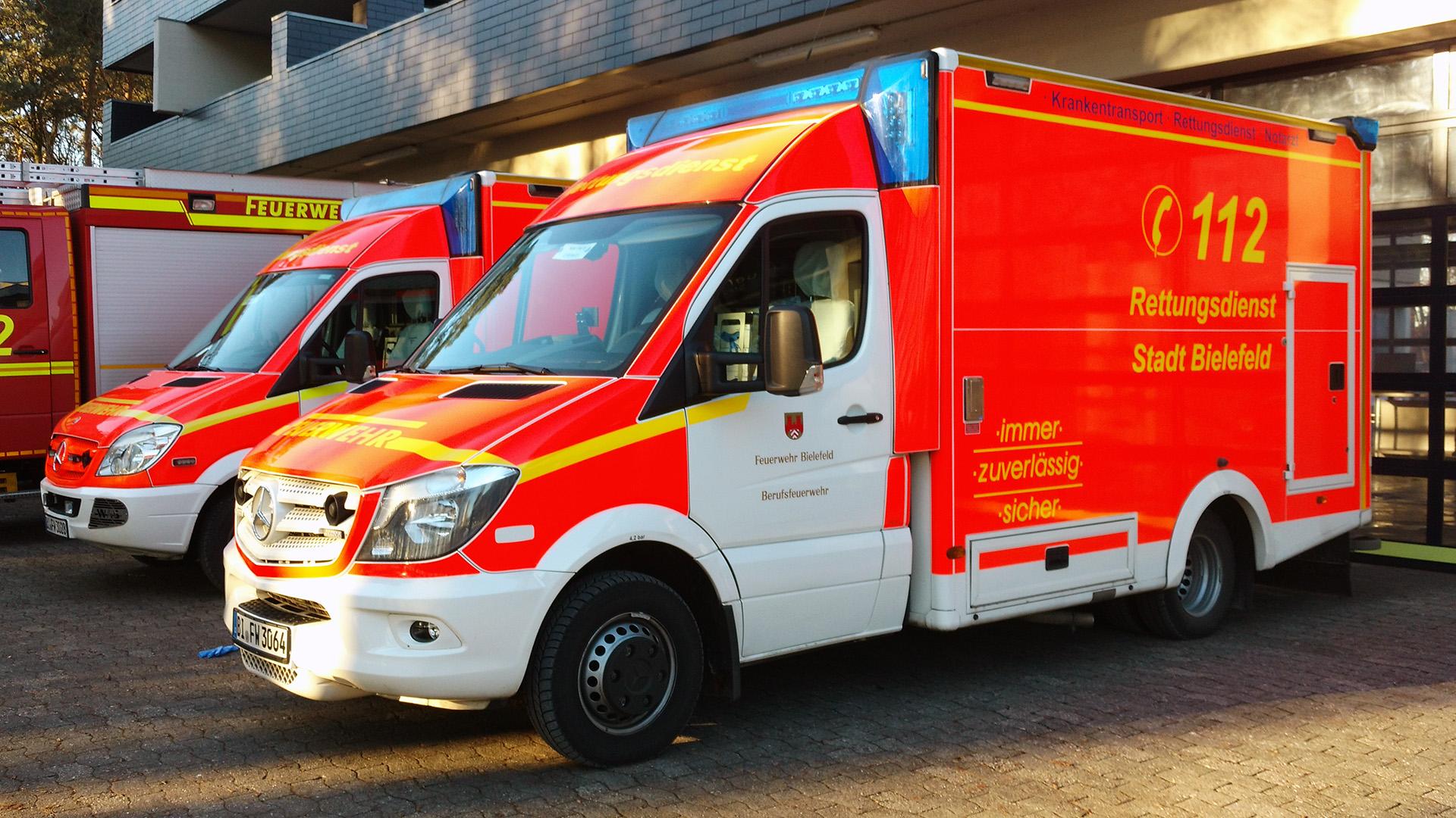 RTW Feuerwehr Bielefeld