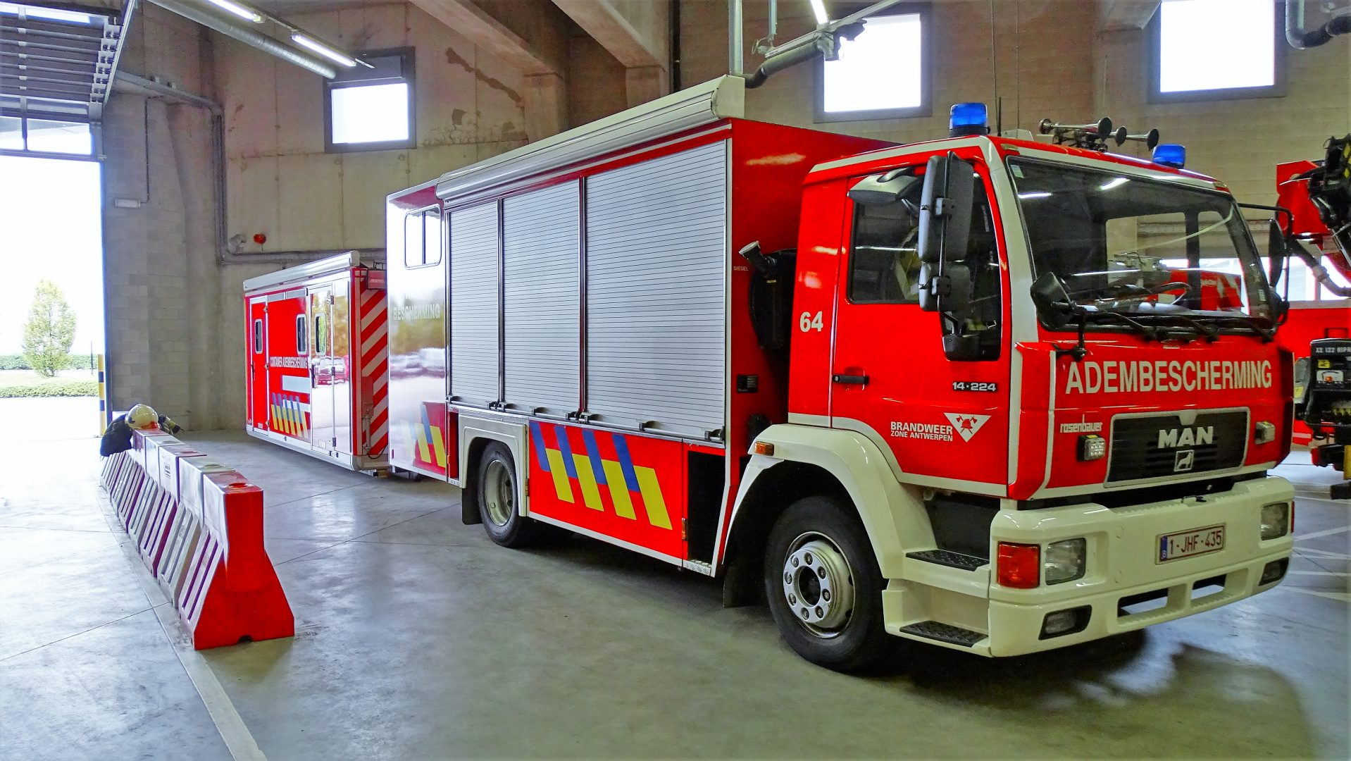 Adembeschermingswagen Antwerpen