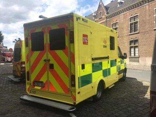 Belgische ambulance met Battenburg